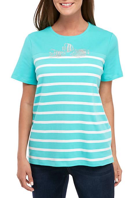 Kim Rogers® Petite Short Sleeve Fish T Shirt
