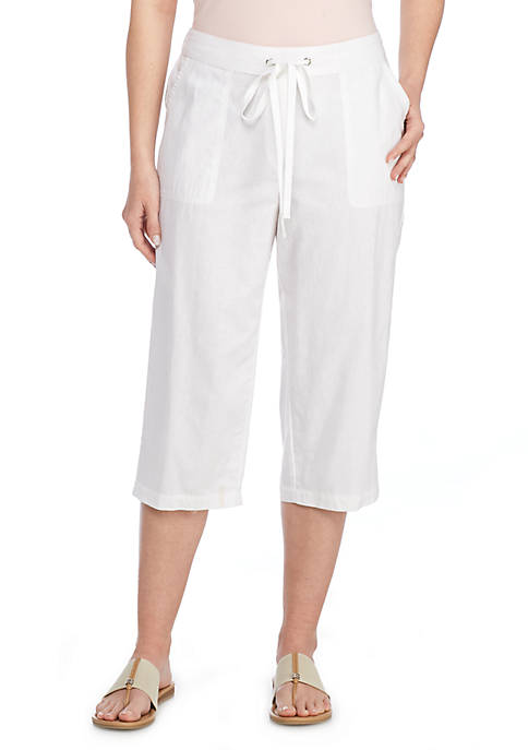 Kim Rogers® Cropped Solid Wide Leg Pants