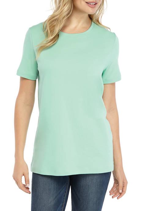 Petite Short Sleeve Mega Solid T-Shirt