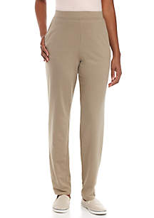 Petite Average Straight Solid Pants