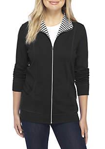 Petite Long Sleeve Zip Jacket