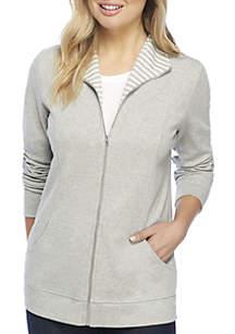 Petite Long Sleeve Heather Jacket