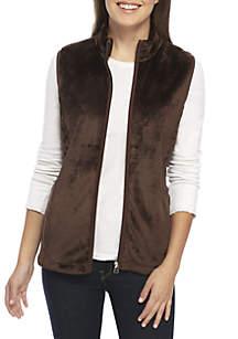 Petite Fleece Zip Vest