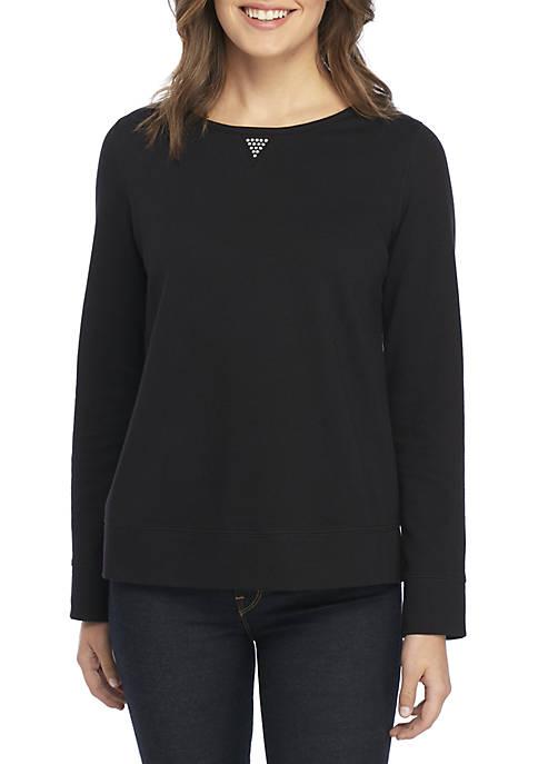Petite Long Sleeve Crew Neck Sweatshirt