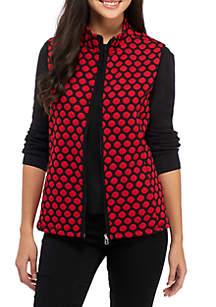 Petite Jacquard Dot Vest