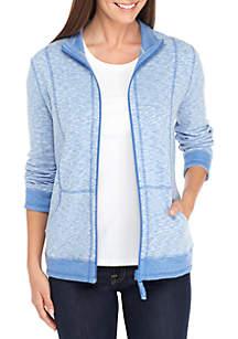 Kim Rogers® Petite Double Knit Zip Jacket