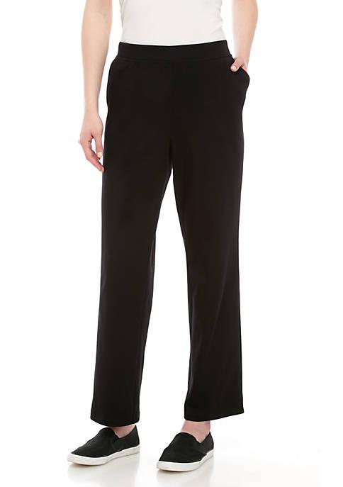 Kim Rogers® Petite Interlock Straight Leg Pants