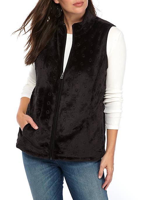 Kim Rogers® Petite Embossed Vest