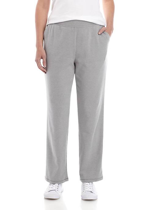 Petite Interlock Straight Leg Pants- Short