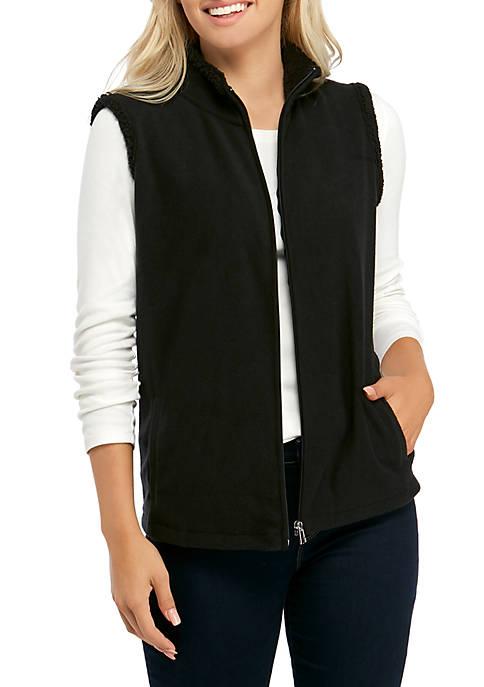 Petite Sherpa Lined Vest