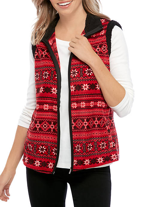 Kim Rogers® Petite Sherpa Lined Vest