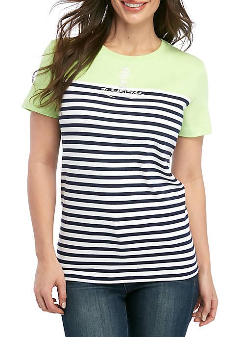 Kim Rogers® Petite Short Sleeve Lighthouse T Shirt