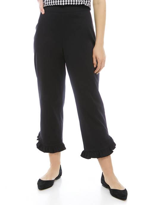 Kim Rogers® Petite Ruffle Trim Capri Pants