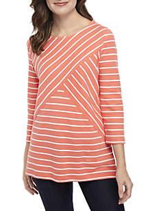 90fd02a458 ... Kim Rogers® Petite Striped Knit Top