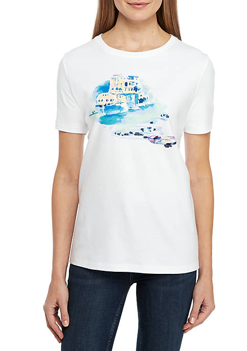 Petite Short Sleeve Scenic T Shirt