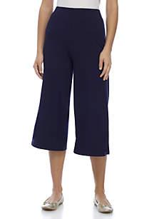 Petite Cropped Knit Pants
