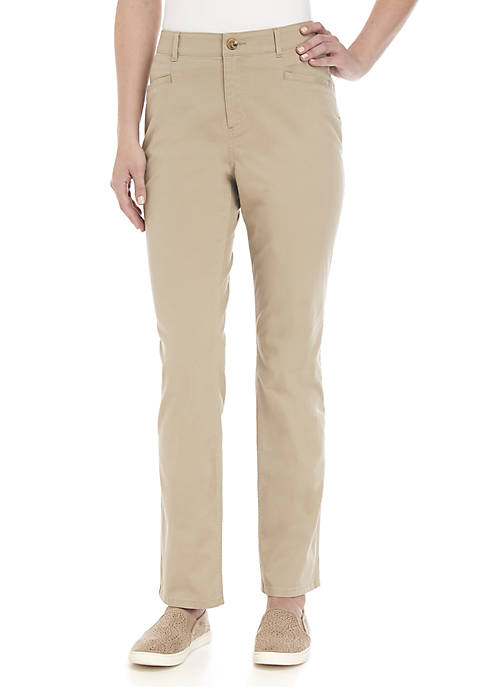 Petite Average Solid Twill Pants