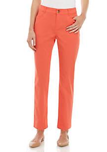 Kim Rogers® Petite Average Solid Twill Pants