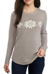 Petite Snow Heather Sweater