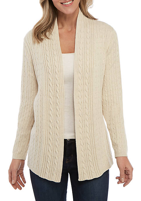 Kim Rogers® Petite Cable Knit Cardigan