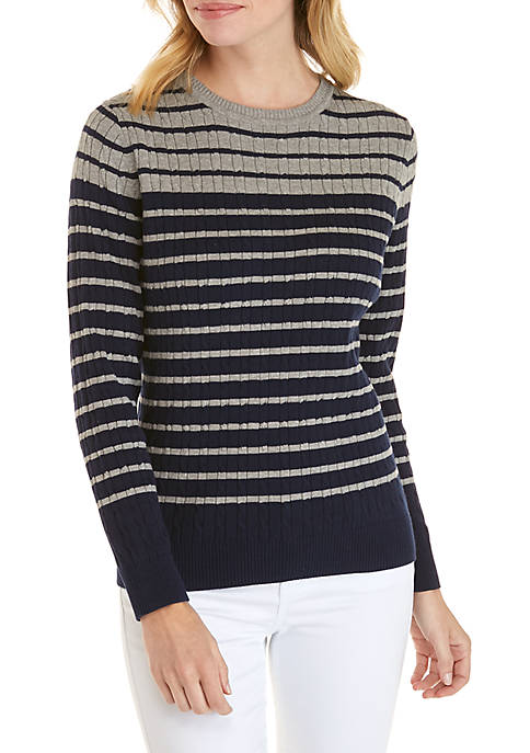 Kim Rogers® Petite Cable Knit Sweater