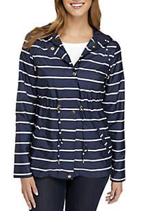 Petite Long Sleeve Anorak Jacket