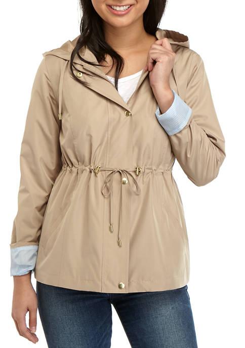 Kim Rogers® Petite Long Sleeve Anorak Jacket