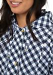 Petite Long Sleeve Print Anorak Jacket