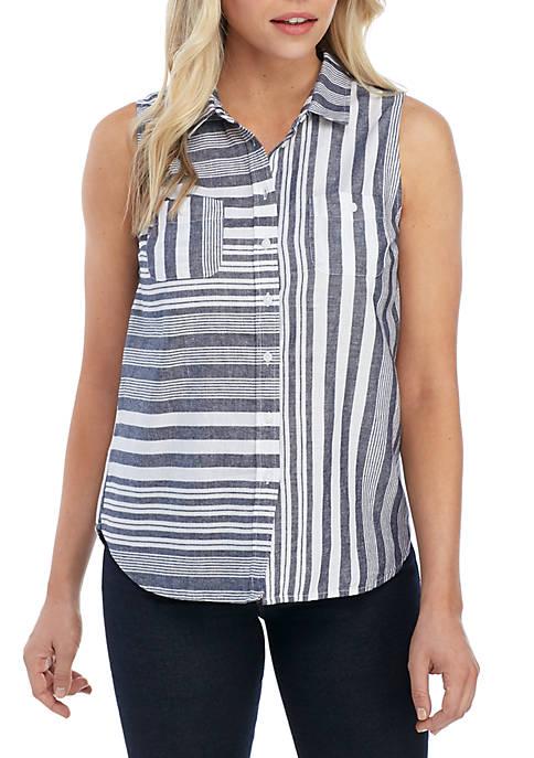 Kim Rogers® Petite Sleeveless Button Down Top