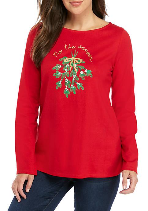 Kim Rogers® Long Sleeve Graphic Tunic