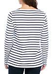 Womens Long Sleeve Graphic Tunic