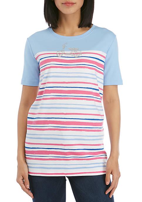 Kim Rogers® Short Sleeve Vespa Print Tee