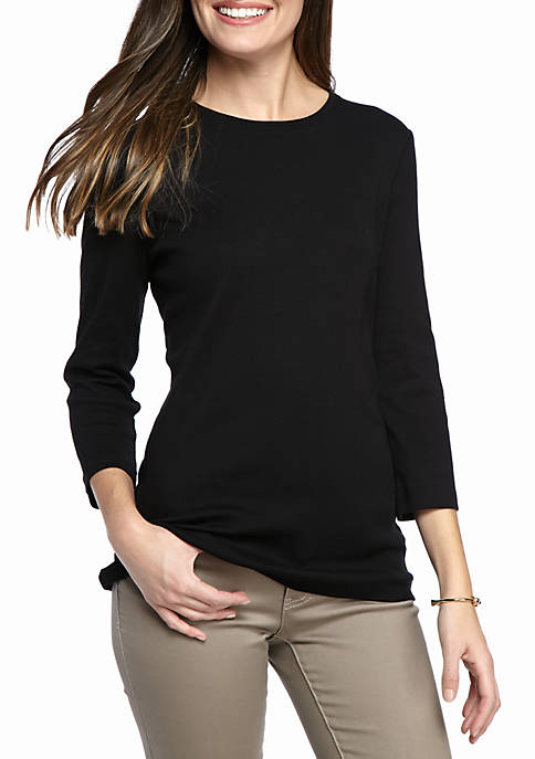 Ribbed Solid Knit Top