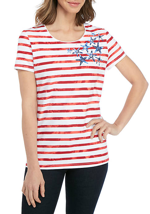 Kim Rogers® Short Sleeve Starfish T Shirt