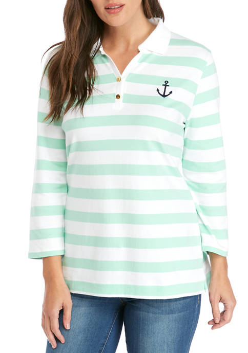 Womens Quarter Sleeve Polo Shirt