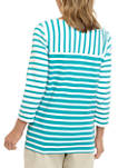 Womens 3/4 Sleeve Crossover V Neck Top
