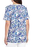 Short Sleeve Paisley T Shirt