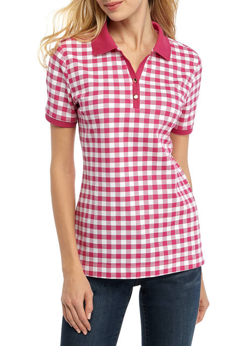 Kim Rogers® Womens Perfectly Soft Short Sleeve Polo