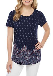 Kim Rogers® Short Sleeve Printed Tunic