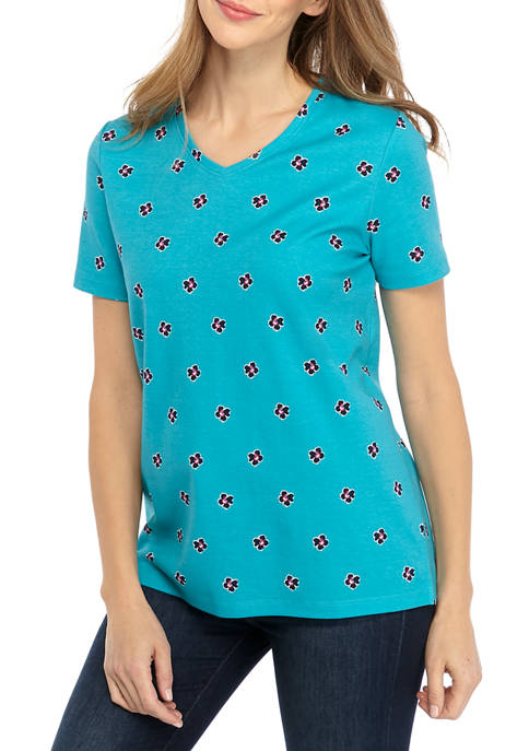 Womens Perfectly Soft Short Sleeve V-Neck T-Shirt