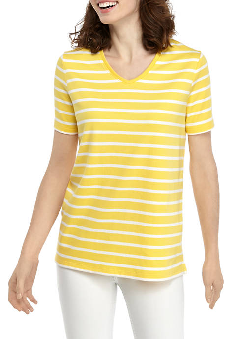 Womens Perfectly Soft Short Sleeve V-Neck T-Shirt