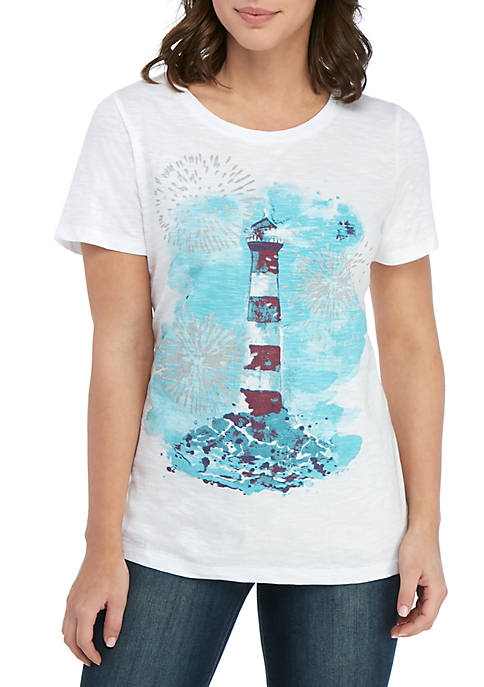 Kim Rogers® Short Sleeve Light House Tee