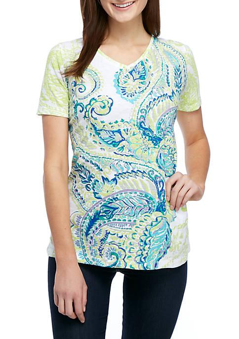 Kim Rogers® Short Sleeve Paisley Place Mat T