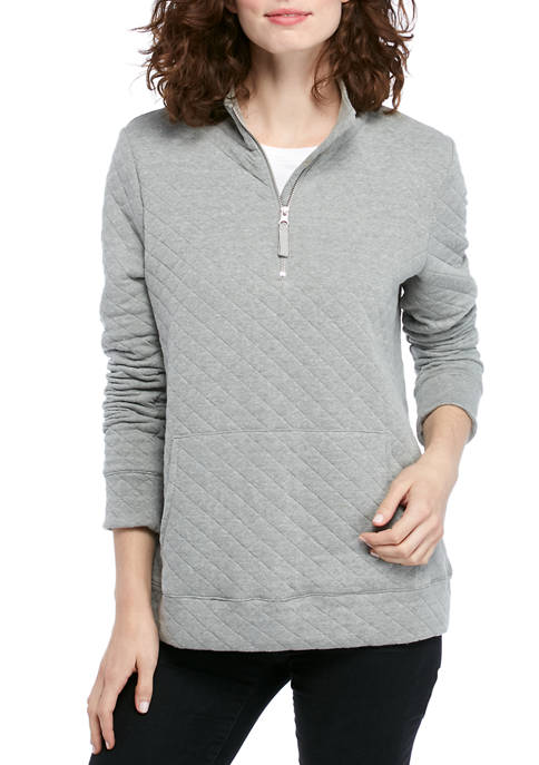 Kim Rogers® Womens Quilted Pullover