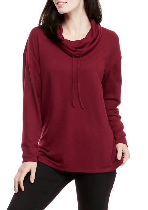 Kim Rogers® Womens Long Sleeve Cowl Neck Tunic