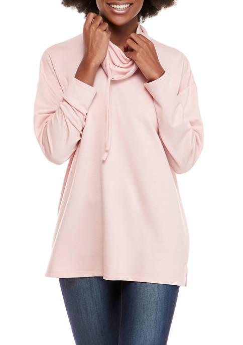 Womens Long Sleeve Cowl Neck Tunic