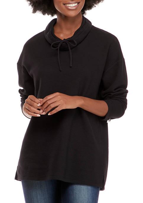 Kim Rogers® Womens Long Sleeve Ottoman Cowl Neck