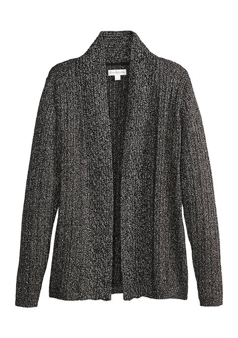 Kim Rogers® Womens Cable LUREX® Cardigan