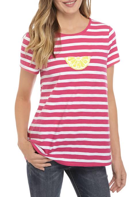 Womens Short Sleeve High Low Art Graphic T-Shirt