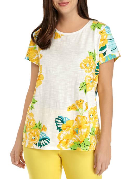 Womens Short Sleeve High Low Art T-Shirt